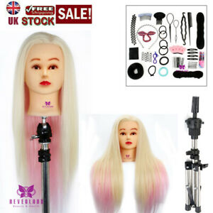"""Neverland Beauty 24"""" Synthetic Hair Head Training Head Mannequin Hairdressing"""