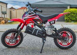 36V 500W KIDS RIDE ON CAR ELECTRIC MOTOR CYCLE DIRT PITT BIKE TWO WHEEL RED