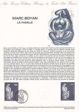 Document Philatélique Timbre 1er Jour : 18/09/ 1982 - Marc Boyan La Famille