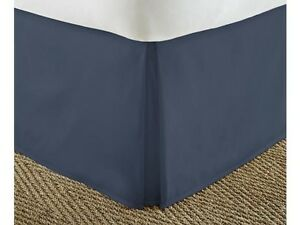 """PREMIUM BED SKIRT PLEATED SUPER SOFT SOLID 14"""" DROP DUST RUFFLE QUEEN or KING"""