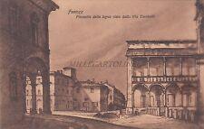 FAENZA - Piazzetta della legna vista dalla Via Torricelli