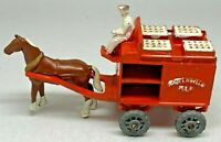 Matchbox Regular Wheels No 7 Orange Horse Drawn Milk Float 1954 - VNM