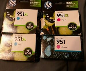 Lot of 4 HP 951XL and 951 EXPIRED, new and sealed.