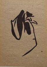 "JEAN (HANS) ARP mounted original woodblock print 14 x 11"" 1960 woodcut JA3"