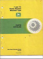 John Deere 7 and 7C Power Mowers Parts Catalog
