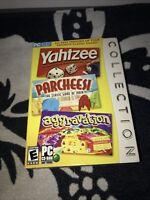 Yahtzee, Parcheesi Aggravation Collection PC, 2006 Factory Sealed Retail Box