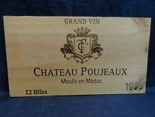 1998CHATEAU POUJEAUX MOULIS MEDOC GRAND VIN WOOD WINE PANEL END