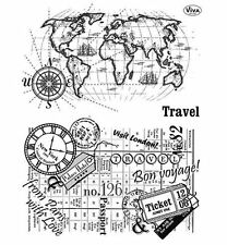 Tampons transparents Viva TRAVEL voyage carte scrapbooking carterie clear stamps