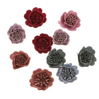 10x Sewing Fabric Flower Embellishment for DIY Dress Hair Applique Patch #3
