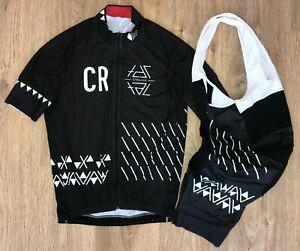Cervo Rosso Black rare cycling kit jersey + bib shorts size L