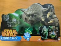Yoda Star Wars Heroes 2 Puzzle Pack W/ Collectible Tin 100 Piece Disney (NEW)