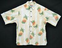 Reyn Spooner Joe Kealukas Mens Sz M I Love Pineapples SS Cotton Hawaiian Shirt