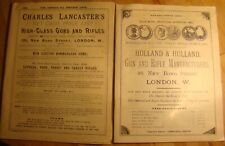 Four 1890's Reproduction Shotgun Rifle Catalogs . Lancaster, Holland and Holland