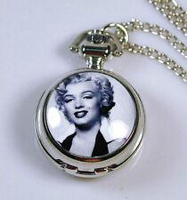Marilyn Monroe Women Ladies Pocket Watch Necklace Woman Lady Gril NE05