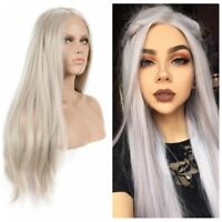 Heat Resistant Hair Women Blonde Wig Straight Lace Front Wig Long Synthetic Wigs