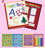 Magic Water Painting Book Children Kid Picture Colouring Draw Fill Album W/ Pen
