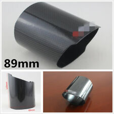 Durable 89mm Car Glossy Real Carbon Fiber Exhaust Muffler Pipe Cover Tail Throat