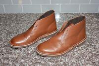 Clarks Mens Bushacre 2 Chukka Boots Leather Size 8.5 Tan 15522