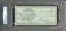 JAN 1968 BRUCE LEE FIRST WESTERN BANK AUTO SIGNED PERSONAL CHECK PSA/DNA RARE!