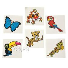 36 x Temporary Rainforest...Jungle...Zoo Tattoos..Party Favours..Party Loot Bag