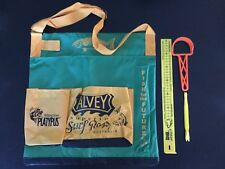 Alvey wading bag Green & Gold & alvey ruler & scaler & hook remover & tackle Box