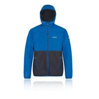 Regatta Mens Arec II Softshell Jacket Top Blue Sports Outdoors Hooded Windproof
