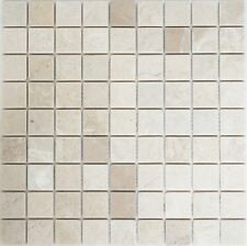 Marmormosaik uni Botticino anticato Fliesenspiegel Küche Art:42-0104 | 10 Matten