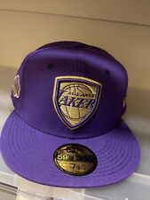 New Era NBA Los Angeles Lakers Purple Shield 59FIFTY Sz 7 5/8 Fitted NEW Men's