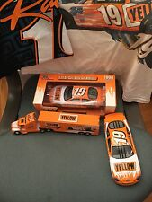 Stock Car Diecast Replicas #19 Yellow Racing, 18 Wheeler, and Two Men's T-shirts