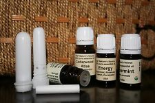 7ml Energy Essential Oil & Nasal Inhaler / Peppermint Rosemary Lemon Eucalyptus