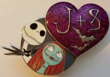 DSF NBC Jack and Sally Valentine Heart J+S DSSH Disney Pin LE 300