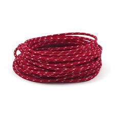 Vintage Câble 1,5 mm Rouge-Blanc Pour Harley-Davidson 7,5 m