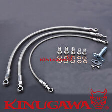 Kinugawa NISSAN RB25 RB30 Turbo Oil & Water Line w/ Garrett T3 (16mm Water bolt)