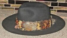 Dorian Safari Fedora Wool Felt Hat Genuine Feather Band