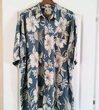 ME Sports  XXL 100% Rayon button-down-front Hawaiian Aloha Shirt, 2XL EUC