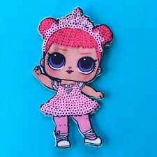 LOL DOLL CENTER STAGE SEQUIN FABRIC APPLIQUÉ PATCH SEW ON GIRLS CHARACTER