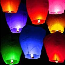 Chino linternas de papel faroles cielo volar deseo de fiesta 10 un./set Lámpara Vela al azar