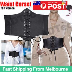 Women Wide Waist Belt Elastic Buckle Dress Ladies Stretch Corset Cinch Waistband
