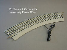Lionel Fastrack train o gauge 6-37103 Curve W/Accessory Power Wire terminal 031