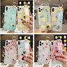 Cute Relief Flower Soft Hand Strap Case Cover For iPhone 11 Pro Max XS XR X 8 7