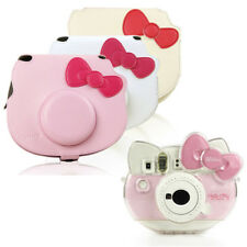 Clear Crystal Shell PU Leather Camera Case For Fujifilm Instax Mini Hello Kitty