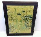 Large Framed Poster Print Chocolate Dancing in Achille's Bar Henri Lautrec