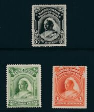 NIGER COAST PROTECTORATE (1894) #44, #48, #55; MNG; NO FAULTS **NICE**