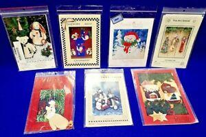 Holiday Craft Patterns Bears, Rabbits, Snowman, Tea Towel/Pot Holders, Angel NEW