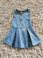 Super Cute Vintage Denim & Plaid Preppy Style Dress Sz 4 Rachel's Kids