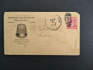 Illinois: Chicago 1904 McIntosh Sewing Thimble Advertising Cover