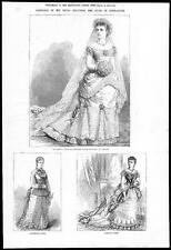 1879 MARRIAGE OF DUKE OF CONNAUGHT - Bridal Dresses Louise Margaret (202)