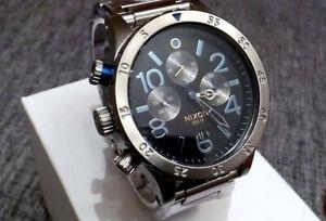 nixon midnight gt 48-20 men's chronograph watch