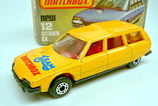 "Matchbox SF 12D Citroen CX gelb ""Team Matchbox"" in blau matte Bpl. in Box"