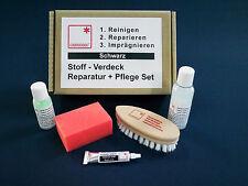 Cabrio Verdeck Reparatur und Pflege Set Stoffdach schwarz für alle Marken